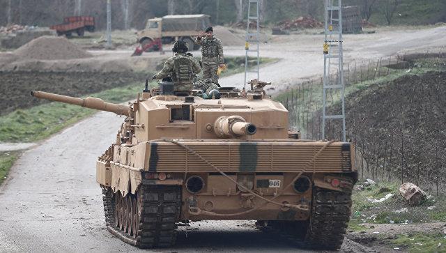 Турецкий военный конвой на турецко-сирийской границе. 21 января 2018