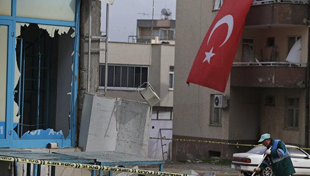 Последствия обстрела в городе Килис, Турция. 21 января 2018