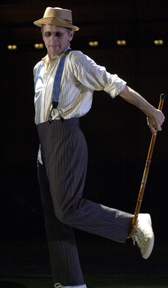 Михаил Барышников на генеральной репетиции Mr. XYZ в театре Джойса в Нью-Йорке, 2003 год.