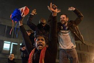 Участники акции протеста работников тюрем во Франции. 22 января 2018 года