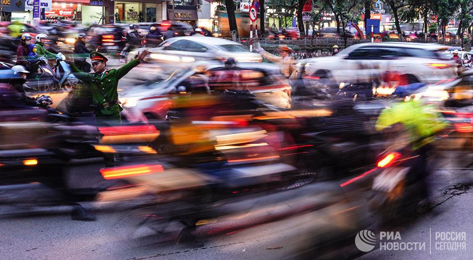Дорожное движение в Ханое