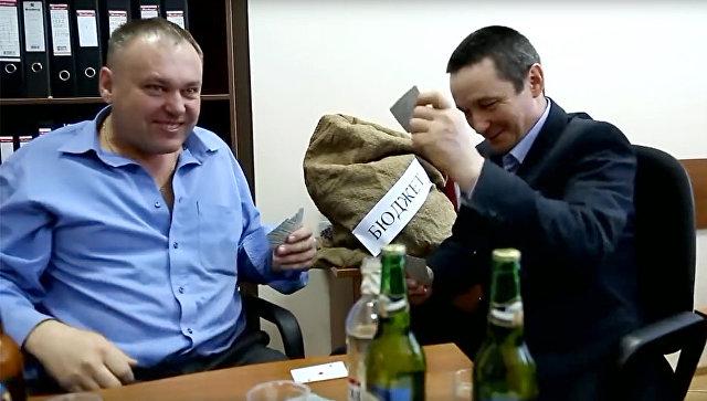Стоп-кадр из видео, снятого чиновниками министерства лесного хозяйства Оренбургской области
