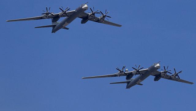 Истребители ВВС США вышли на перехват российских Ту-95