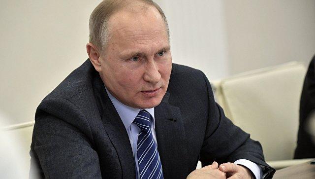 Владимир Путин во время встречи в Казани с представителями мусульманских религиозных организаций и руководителями Болгарской исламской академии. 25 января 2018