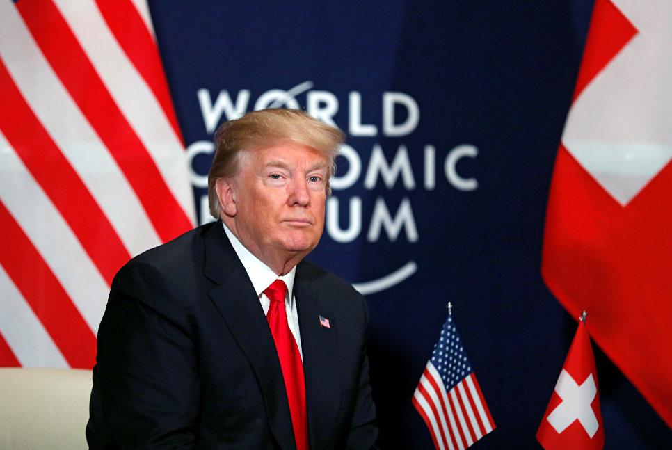 Президент США Дональд Трамп на экономическом форуме в Давосе