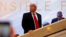 Президент США Дональд Трамп во время экономического форума в Давосе