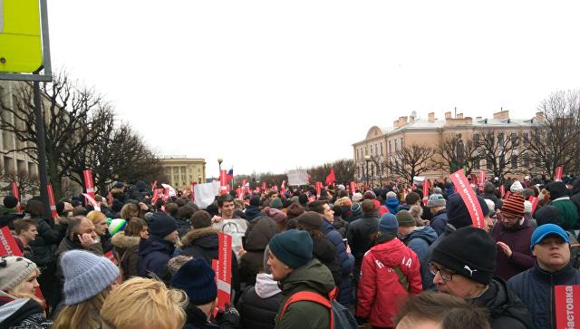 МВД: немногочисленные акции приверженцев Навального прошли в46 областях Российской Федерации