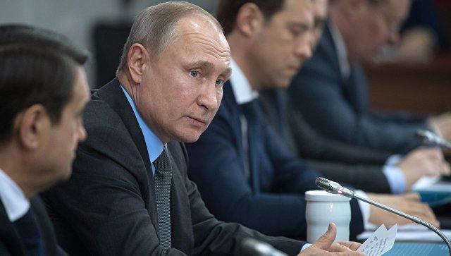 Владимир Путин во время заседания президиума Государственного совета РФ. 1 февраля 2018