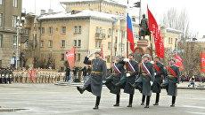 Парад войск в честь Сталинградской Победы в Волгограде. 2 февраля 2018