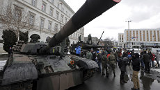 Польский танк PT-91 в Варшаве. Архивное фото