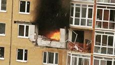 Последствия взрыва газового балона в Бутово- парке. 5 февраля 2018