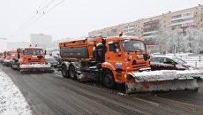 Снегоуборочная техника коммунальных служб. Архивное фото