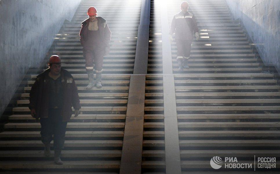 Строительство московского метро. Архивное фото