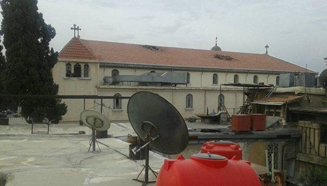 Комплекс Марьямия в Дамаске после обстрела