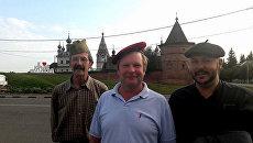 Фермер Филипп Камю (слева) в России