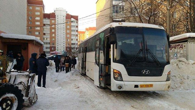 На месте обрушения пола в квартире в Звенигороде. 13 февраля 201