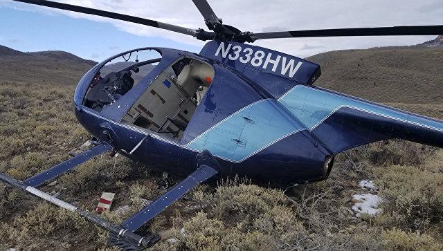 Вертолет, сбитый лосями в горах восточной Юты