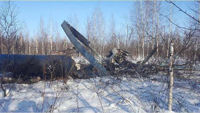 Место аварийной посадки вертолета Ми-8 в Томской области