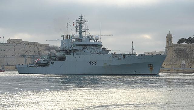 Британский корабль HMS Enterprise. Архивное фото