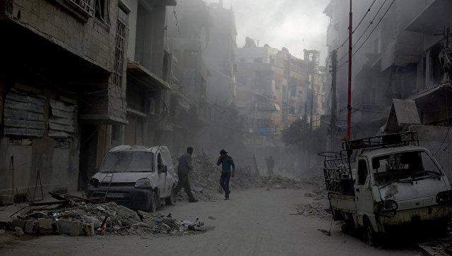 Разрушенные улицы Дамаска