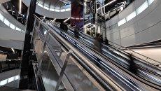 Эскалаторы в вестибюле станции Большой кольцевой линии Московского метрополитена. Архивное фото