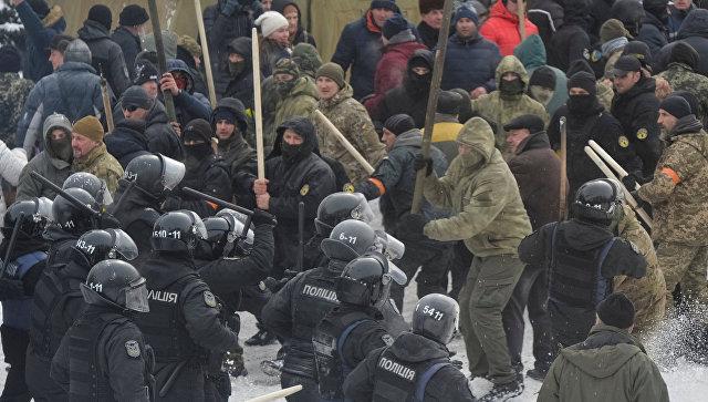 В Киеве десять силовиков пострадали в потасовке со сторонниками Саакашвили