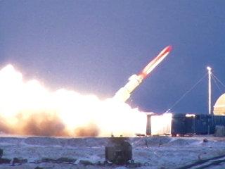 Испытания крылатой ракеты неограниченной дальности с ядерной энергетической установкой. Архивное фото