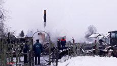 Последствия пожара во Владимирской области с гибелью 4-х детей. 3 марта 2018
