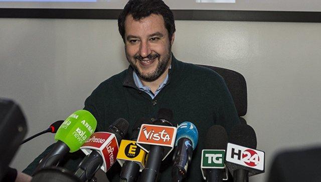 Лидер итальянской партии Лига Севера Маттео Сальвини. Архивное фото