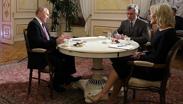 Президент РФ Владимир Путин дает интервью журналисту американского телеканала NBC Мегин Келли в Кремле