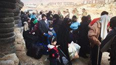 Выход беженцев из восточной Гуты. 13 марта 2018