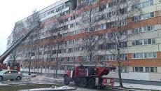 На месте взрыва в девятиэтажном жилом доме в Санкт-Петербурге. 13 марта 2018