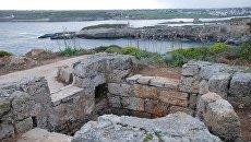 Сохранившееся основание памятника русским морякам на Менорке
