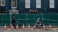 Ограждение у ресторана Zizzi в Солсбери, который был закрыт после госпитализации бывшего полковника ГРУ Сергея Скрипаля