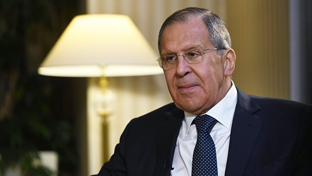 Сергей Лавров после встречи глав МИД стран-гарантов перемирия в Сирии (России, Ирана и Турции) в Астане
