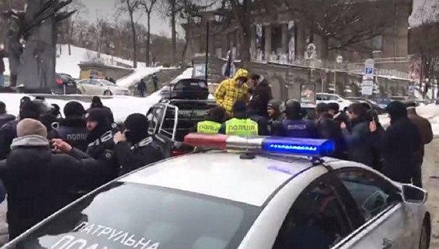 Акция у дома президента Украины Петра Порошенко под Киевом. 18 марта 2018