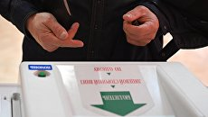 Комплекс обработки избирательных бюллетеней во время выборов президента Российской Федерации. 18 марта 2018