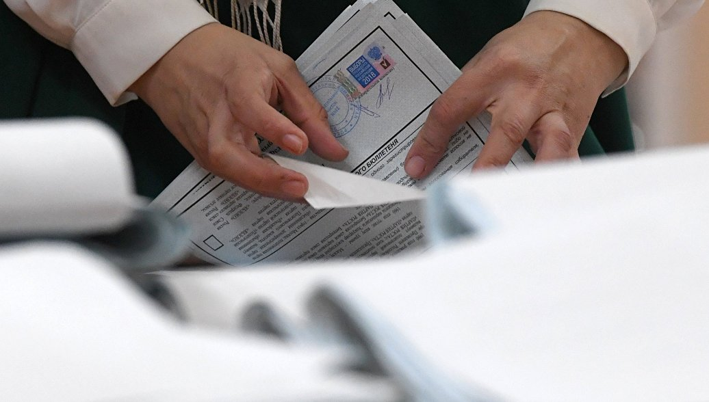 Подсчет голосов на выборах президента РФ. Архивное фото
