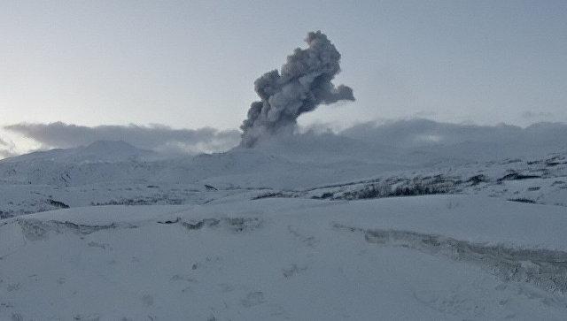 Вулкан Эбеко на Курилах выбросил мощный столб пепла на 4,5 километра