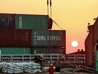 Торговый порт в Китае