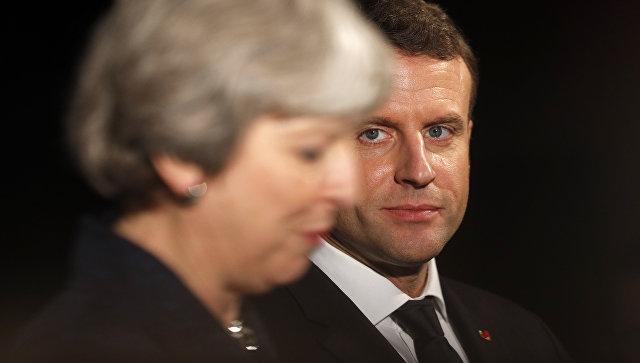 Премьер-министр Великобритании Тереза Мэй и президент Франции Эммануэль Макрон. Архивное фото