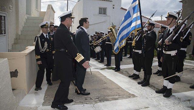 Премьер-министр Греции Алексис Ципрас во время дня независимости в Греции. 25 марта 2018