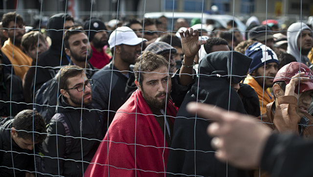 Мигранты на границы Австрии и Германии. Архивное фото