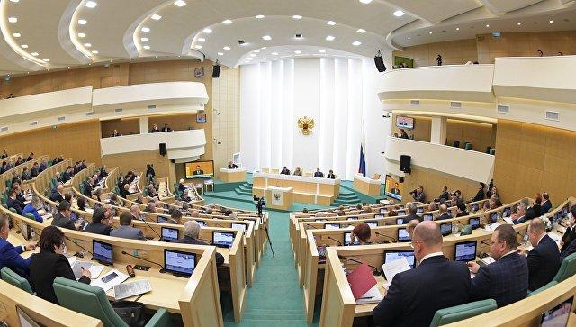 Сенаторы на заседании Совета Федерации. Архивное фото