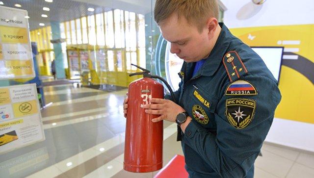 Проверка пожарной безопасности в торгово-развлекательном центре Кольцо в Челябинске. 29 марта 2018