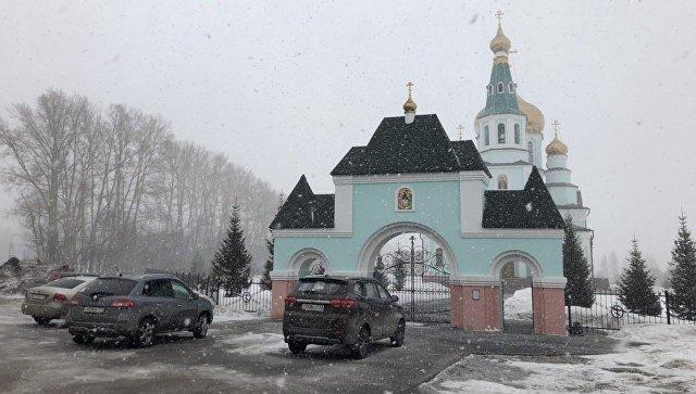 Храме Преподобного Сергия Радонежского города Топки. 30 марта 2018