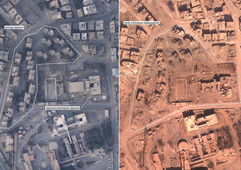 Разрушительные последствия для мирного населения в Ракке