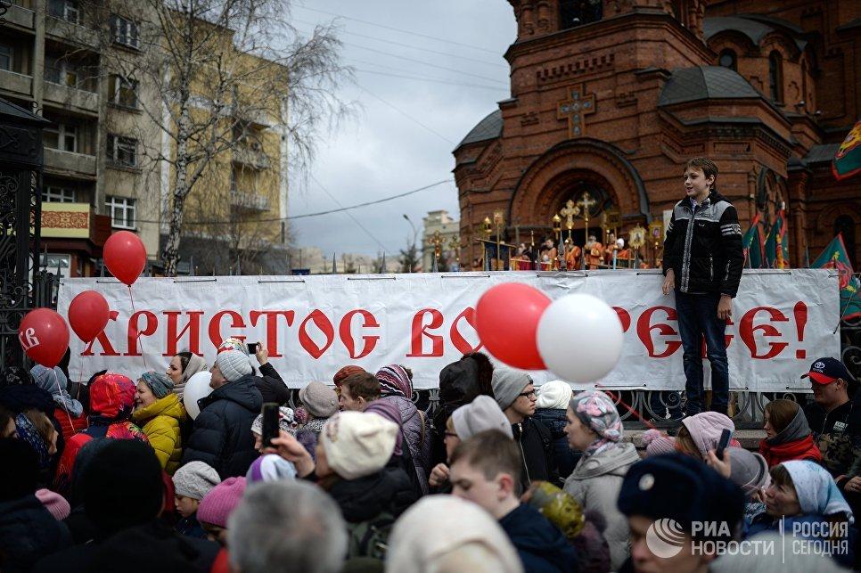 Пасхальный крестный ход в Новосибирске
