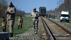 На месте ДТП на железнодорожном переезде под городом Армянск в Крыму. 8 апреля 2018