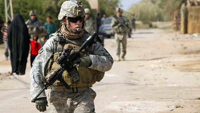 Военнослужащий армии США в Ираке
